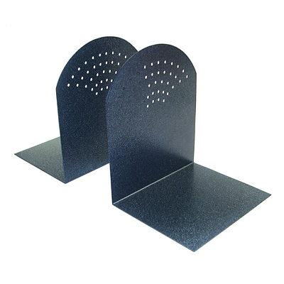 MMF Industries™ STEELMASTER® 7 Fan-hole Pattern Bookend, Granite