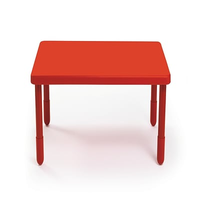 Angeles® 12 x 28 x 28 Plastic Square Value Preschool Table, Candy Apple Red