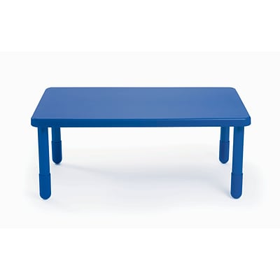 Angeles® 18 x 28 x 48 Plastic Rectangular Value Table, Royal Blue