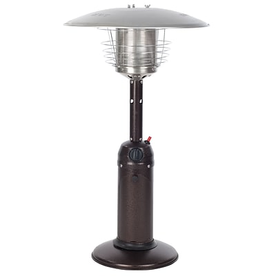 Fire Sense® 10000 BTU Table Top Patio Heater, Hammer Tone Bronze