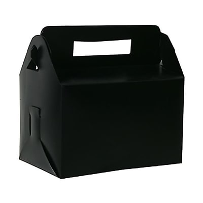 JAM Paper® Plastic Lunch Box, 4 3/4 x 7 3/4 x 4 3/4, Black, Sold Individually (339563)