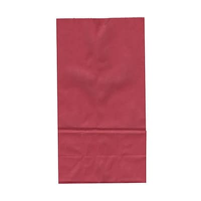 JAM Paper® Kraft Lunch Bags, Large, 6 x 11 x 3.75, Red, 500/box (692KRREB)