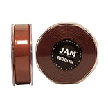 JAM Paper® Double Faced Satin Ribbon, 7/8 Inch Wide x 25 Yards, Chocolate Brown, Sold Individually (