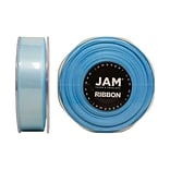 JAM Paper® Double Faced Satin Ribbon, 7/8 Inch Wide x 25 Yards, Light Blue, Sold Individually (807SA