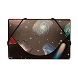JAM Paper® Plastic Business Card Case, Colorful Space Planets, 1/Pack (236618973B)