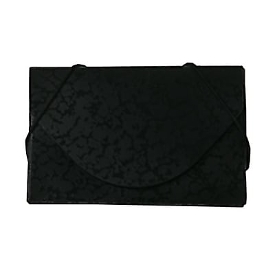 JAM Paper® Plastic Business Card Case, Black/Black Composition Design, Sold Individually (2500 539)