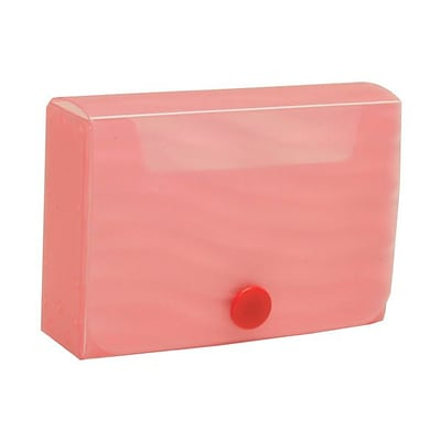 JAM Paper® Plastic Business Card Case with Snap Closure, Pink Wave, Sold Individually (245012473)