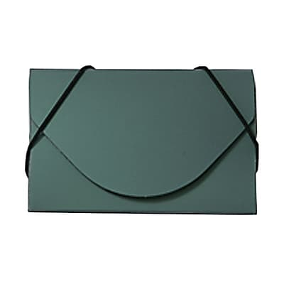 JAM Paper® Plastic Business Card Case, Green Metallic, Sold Individually (365659)