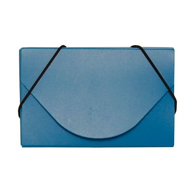 JAM Paper® Plastic Business Card Case, Blue, 1/Pack (291618967B)