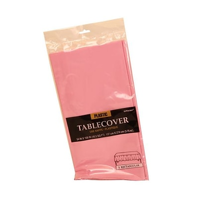 JAM Paper® Plastic Table Covers, Pink Table Cloths, Sold Individually (291423339)