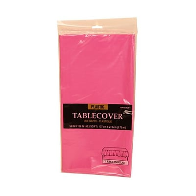 Jam Paper Plastic Table Covers Fuchsia Pink Table Cloths Sold
