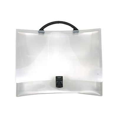 JAM Paper® Fashion Briefcase, 12.25 x 8.75 x 1.5, Clear, Sold Individually (4200CLEAR)