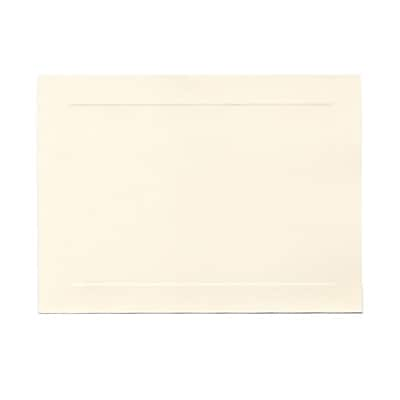 JAM Paper® Blank Note Cards with Panel Border, A7 size, 5 1/8 x 7, Cougar Opaque Natural White, 500/box (97175B)