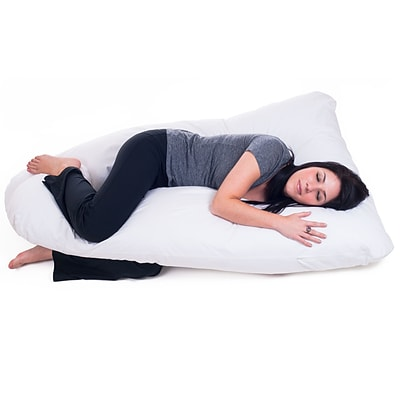 Trademark Global® Remedy™ Body Contour U Pillow; Full, White