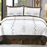 Trademark Global® Lavish Home 3 Piece Athena Embroidered Quilt Set, King