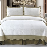 Trademark Global® Lavish Home 3 Piece Jeana Embroidered Quilt Set, King