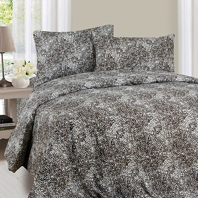 Trademark Global® Lavish Home 1200 Series 4 Piece Animal Pattern Sheet Set, King, Mink