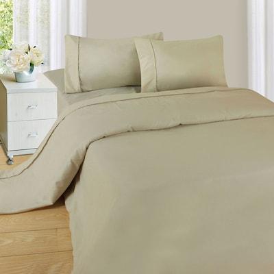 Trademark Global(r) Lavish Home 1200 Series 3 Piece Sheet Set, Twin, Bone