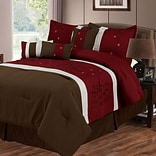 Trademark Global® Lavish Home 7 Piece Embroidered Comforter Set, Queen, Sarah