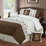 Trademark Global® Lavish Home 7 Piece Embroidered Comforter Set, Queen, Hannah