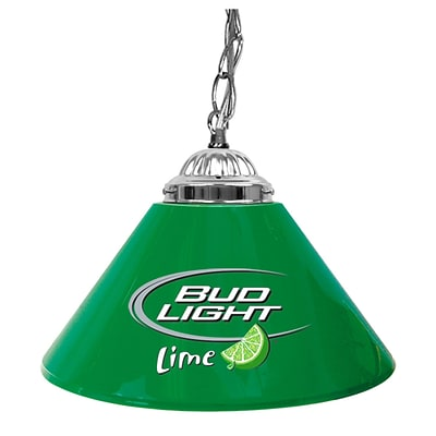 Trademark Global® 14 Single Shade Bar Lamp, Green, Bud Light Lime