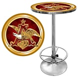 Trademark Global® 28 Solid Wood/Chrome Pub Table, Gold, Budweiser® A & Eagle