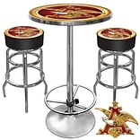 Trademark Global® Ultimate 2 Bar Stools and Table Gameroom Combo, Budweiser® A & Eagle