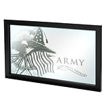 Trademark Global® 15 x 27 Black Wood Framed Mirror, U.S Army This Well Defend