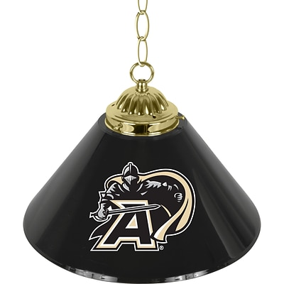 Trademark Global® 14 Single Shade Bar Lamp, Black, Army Black Knights™ NCAA