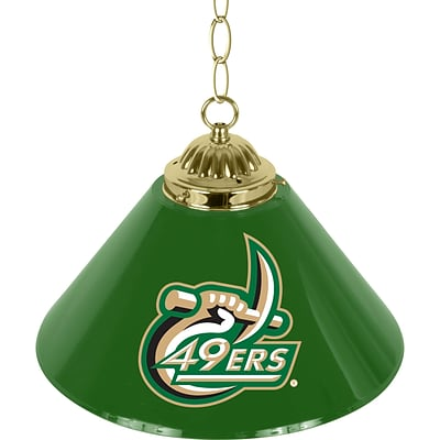 Trademark Global® 14 Single Shade Bar Lamp, Green, N.C. Charlotte™ NCAA