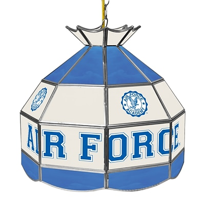 Trademark Global® 16 Stained Glass Tiffany Lamp, Air Force Falcons NCAA