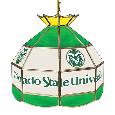 Trademark Global® 16 Stained Glass Tiffany Lamp, Colorado State University NCAA