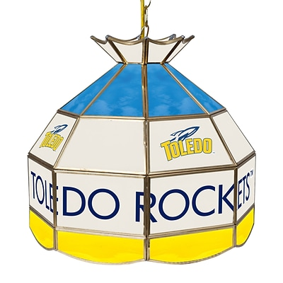 Trademark Global® 16 Stained Glass Tiffany Lamp, University of Toledo NCAA