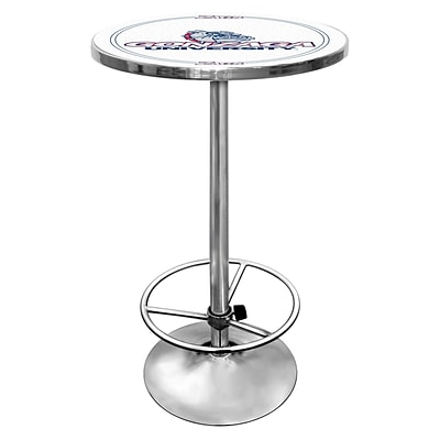 Trademark Global® NCAA® 28 Solid Wood/Chrome Pub Table, White, Gonzaga University