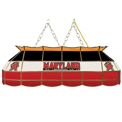 Trademark Global® 40 Stained Glass Tiffany Lamp, Maryland University™ NCAA