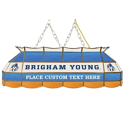 Trademark Global® 40 Stained Glass Personalized Tiffany Lamp, Brigham Young™ NCAA