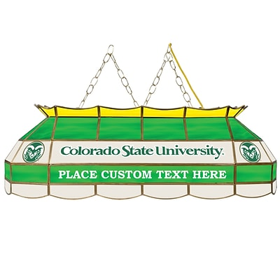 Trademark Global® 40 Stained Glass Personalized Tiffany Lamp, Colorado State University® NCAA