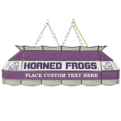 Trademark Global® 40 Stained Glass Personalized Tiffany Lamp, Texas Christian University NCAA