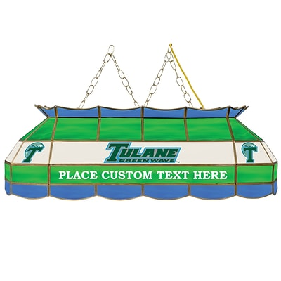 Trademark Global® 40 Stained Glass Personalized Tiffany Lamp, Tulane Green Wave™ University NCAA