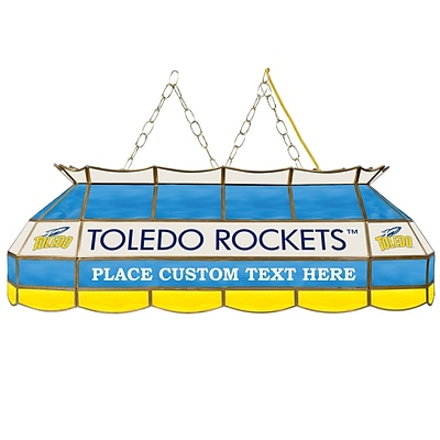 Trademark Global® 40 Stained Glass Personalized Tiffany Lamp, University of Toledo NCAA