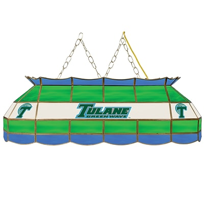 Trademark Global® 40 Stained Glass Tiffany Lamp, Tulane™ University NCAA