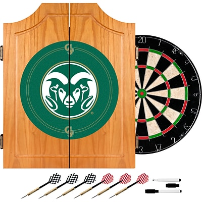 Trademark Global® Solid Pine Dart Cabinet Set, NCAA Colorado State University