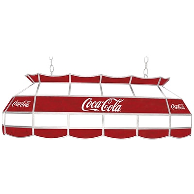 Trademark Global® 40 Stained Glass Vintage Tiffany Lamp, Coca Cola® Script Red/White v1 Vintage