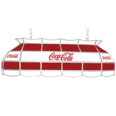 Trademark Global® 40 Stained Glass Vintage Tiffany Lamp, Coca Cola® Red/White Vintage