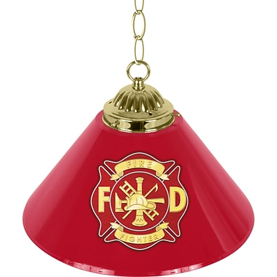 Trademark Global® 14 Single Shade Bar Lamp, Red, Fire Fighter