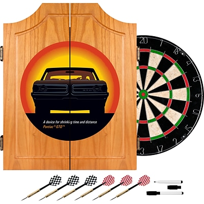 Trademark Global® Solid Pine Dart Cabinet Set, Pontiac GTO - Time & Distance