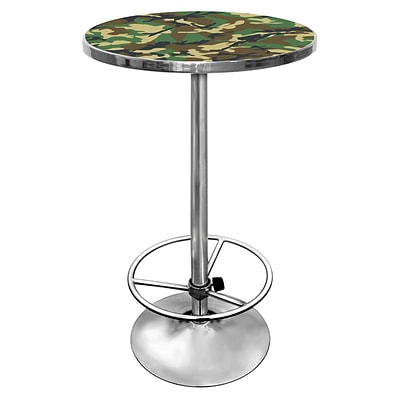Trademark Global® 27.37 Solid Wood/Chrome Pub Table, Hunt Camo