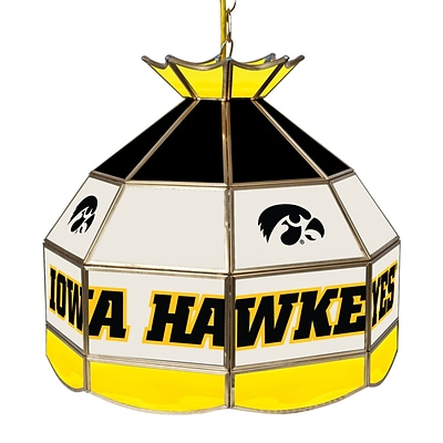 Trademark Global® 16 Stained Glass Tiffany Lamp, University of Lowa NCAA