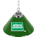 Trademark Global® 14 Single Shade Bar Lamp, Green, University of North Dakota™ NCAA