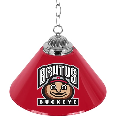 Trademark Global® 14 Single Shade Brutus Bar Lamp, Red, The Ohio State University NCAA
